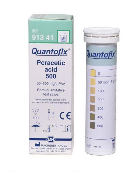 QUANTOFIX Peracetic acid 500 CE marked box of 100 test sticks 6x95 mm