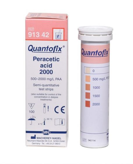 QUANTOFIX Peracetic Acid 2000 box of 100 test sticks 6x95 mm CE-Marked