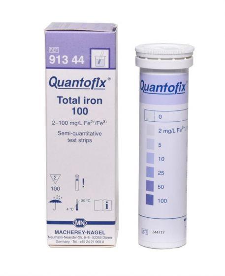 QUANTOFIX Total iron 100 box of 100 test sticks 6x95 mm