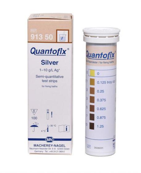 QUANTOFIX Silver box of 100 test sticks 6x95 mm 0-10g/L Silver
