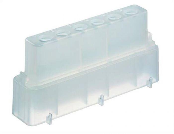 Camlab Plastics Polypropylene Reservoir 8000 +0.5ml Tube Carrier Set in Natural Pack of 10