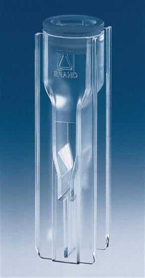 Brand UV-Cuvette micro PLASTIBRAND c=15 mm 70-550µl Pack of 100-camlab