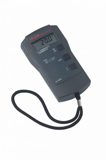 K-type thermometer with Hold C & F feature.