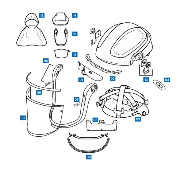 Spares and Accessories for Versaflo M-300 Series Helmets