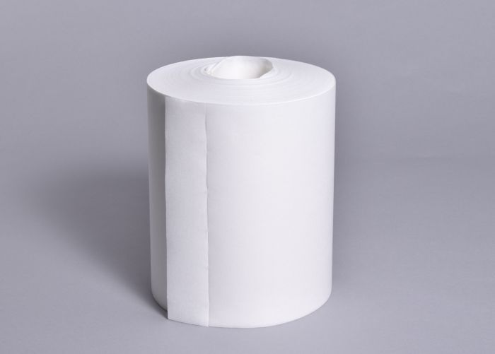 83052 Doric White Cloths - Centrefeed Roll - 6 x 300 Sheets