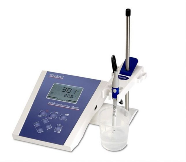 Model 4510 Conductivity/temp meter with dual display and TDS range.
