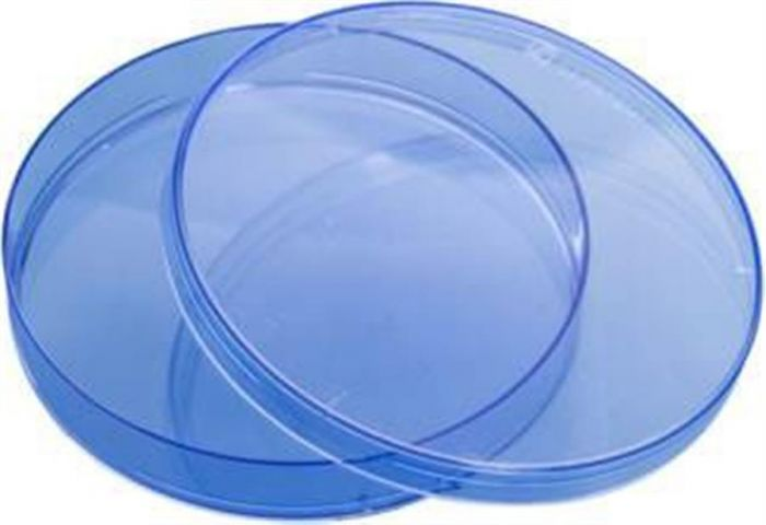 Petri dishes 90mm Triple vent Blue PS Aseptic pack of 500