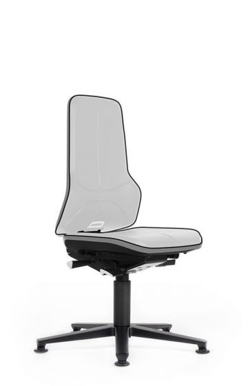 ESD Neon 1 Anti Static Lab chair no seat pads Cool Grey flexband-glides