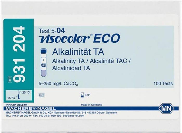 VISOCOLOR ECO Alkalinity TA refill pack, 100 Tests, Photometric Range 5-250 mg/L-931204-Camlab