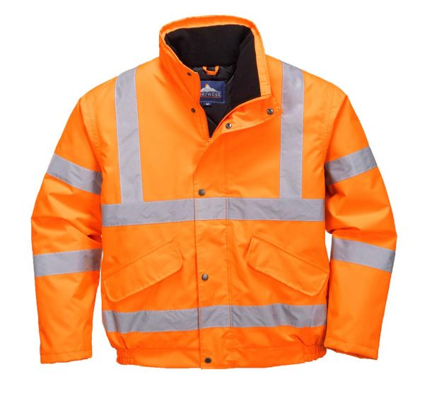 RT32 Orange Hi-Vis Bomber Jacket