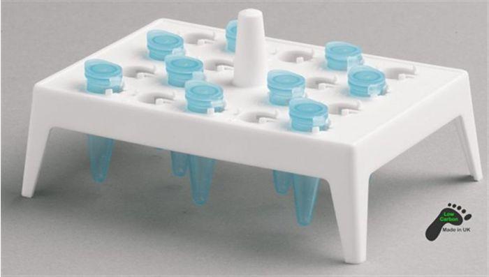 Polypropylene Floating Rack 18 x 1.5/2ml - White Pack of 5