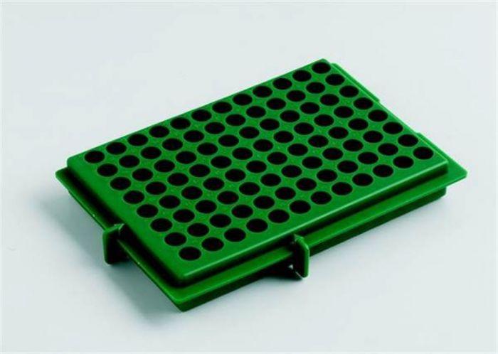 Camlab Plastics X-Y  Polypropylene Rack- Green reversable For 0.5ml/2ml tubes