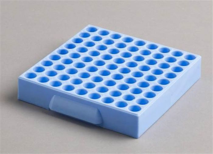 81 Place Polypropylene Maxicold Racks Blue Pack of 5 (Tubes <12mm diam)