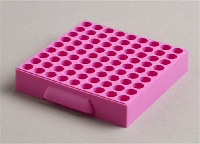 81 Place Polypropylene Maxicold Racks Pink Pack of 5 (Tubes <12mm diam)