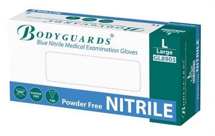 Bodyguards Blue Powder Free Nitrile Gloves AQL 1.5