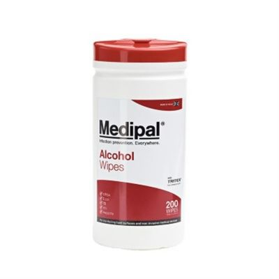 W600110MPCE Medipal Alcohol Wipes - 70% IPA - 10 Tubs x 200 Wipes