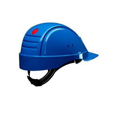 PELTOR Helmet G2000 with Uvicator Sensor Std. suspension plastic sweatband Vented blue Pack of 20