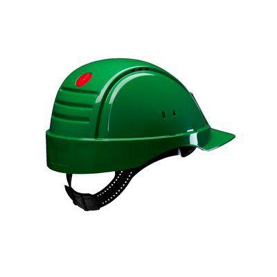 PELTOR Helmet G2000 with Uvicator Sensor Std. suspension plastic sweatband Vented green Pack of 20