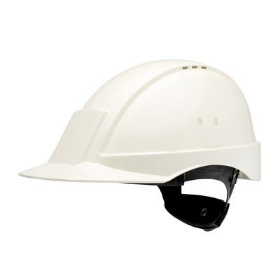 PELTOR Helmet G2000 with Uvicator Sensor Std. suspension leather sweatband Vented white Pack of 20