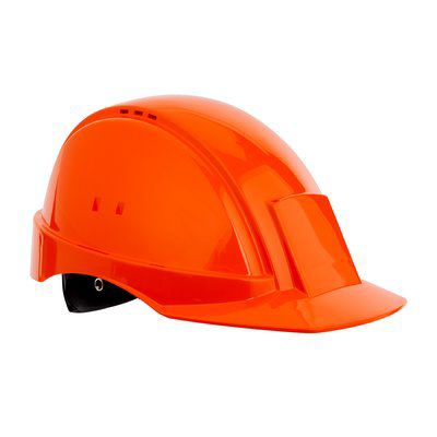 PELTOR Helmet G2000 with Uvicator Sensor ratchet Susp plastic sweatband Vented orange Pack of 20
