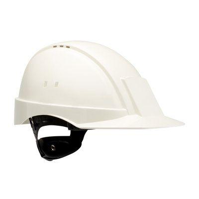 PELTOR Helmet G2000 with Uvicator Sensor ratchet Susp plastic sweatband Vented white Pack of 20