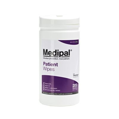 W655110MP Medipal Patient Wipes - 10 x 200 Sheet Canister - 2 L