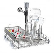 LM20DS  20 place lower level universal flask jetrack washing trolley -camlab