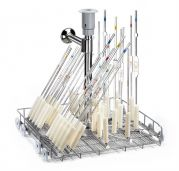 40 position pipette injection washer trolley for drying system-camlab