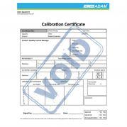 Calibration Certificate for Adam Balances-700660290-Camlab
