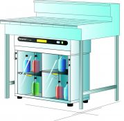 Captair Ministore 822D under bench version Cabinet Only (without filters).