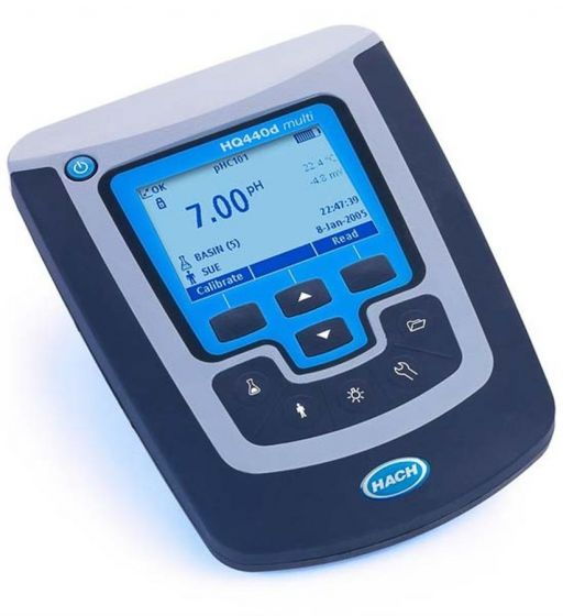 HQ440d, Digital Multimeter, benchtop, two-channel pH/ORP/Conductivity/DO(LDO) Meter without probes-HQ440d.98.00002-Camlab
