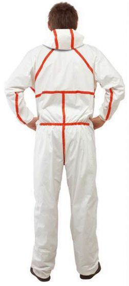 3M 4565 Coverall White & Red Type 4/5/6 Size XXXXL Pack of 20