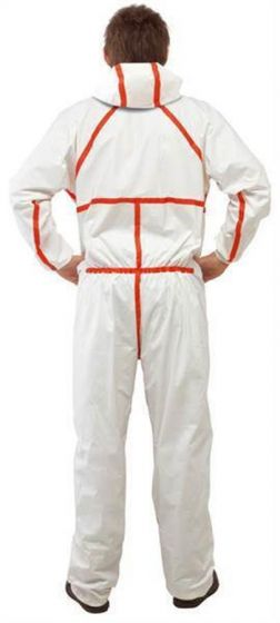 4565 Coverall White+Red Type 4/5/6 Size S Pack of 20-4565WS-Camlab
