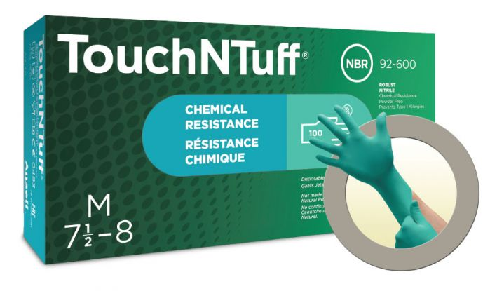 Ansell TouchNTuff 92-600 Nitrile Powder Free Gloves - Pack of 100