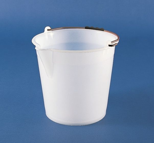White LDPE Bucket with Spout