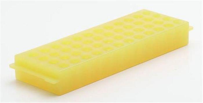 48 Well PP Reversible Rack Yellow For 0.5ml/2ml tubes