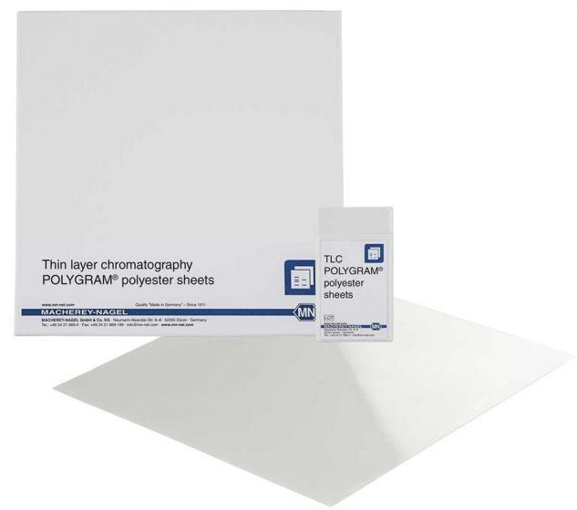 Machery Nagel POLYGRAM sheets CEL 300 PEI/UV254 size: 20 x 20 cm pack of 25 from Camlab