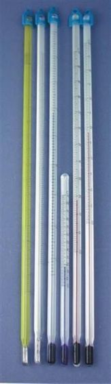 Low toxicity laboratory thermometers