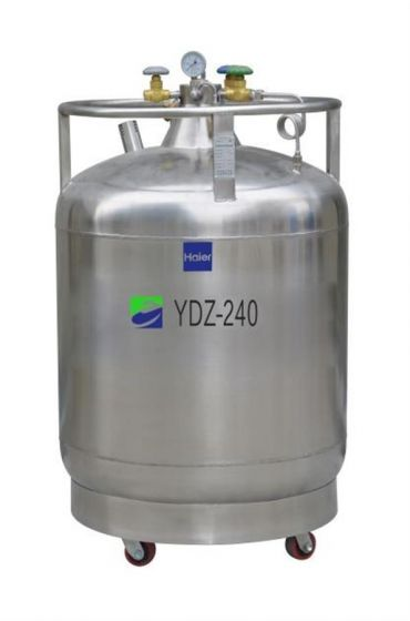 LN2 Self-pressurized Filling tank, 240L with castors, pressure stabilizing system-YDZ-240K-Camlab