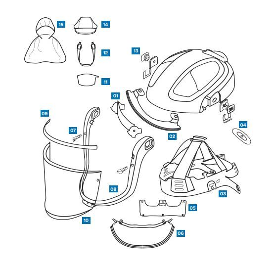 Spares and Accessories for Versaflo M-100 Series Faceshields