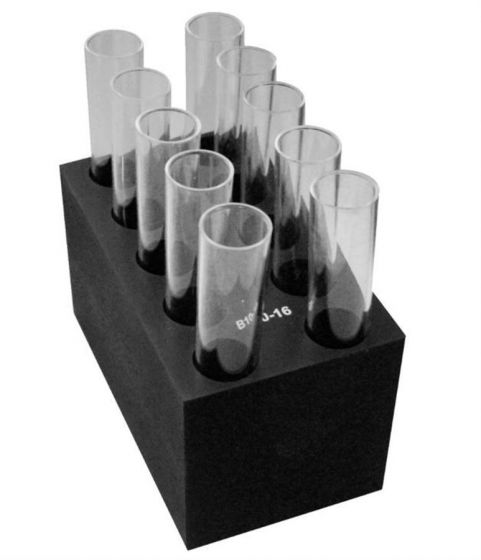 Grant - B10-16 Interchangeable block for CH3-150 unit: 10 x  16mm tubes-camlab