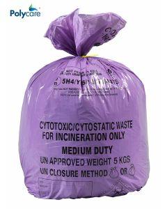 MVN453 Large Cytotoxic Waste Bag - Purple - Pack of 250