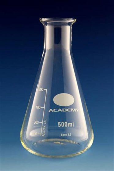 Glass Conical Flask 100ml Academy / Bomex (each)-camlab
