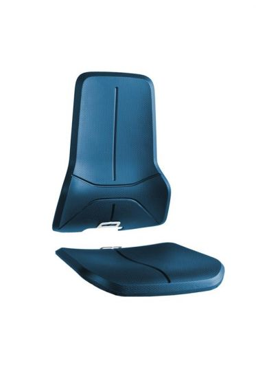 Blue Integral foam seat pads for Bimos neon lab chairs