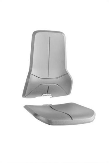Grey Integral foam seat pads for Bimos neon lab chairs