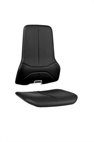 Black washable synthetic leather seat pads for Bimos neon lab chairs