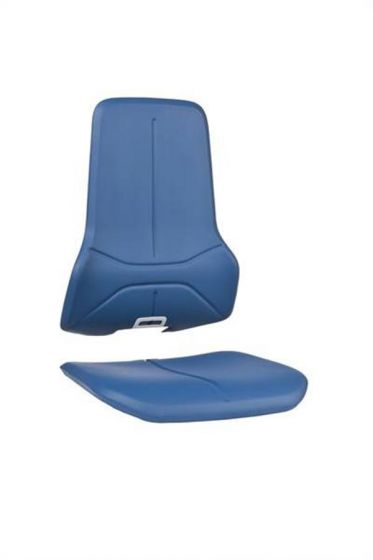 Blue washable synthetic leather seat pads for Bimos neon lab chairs