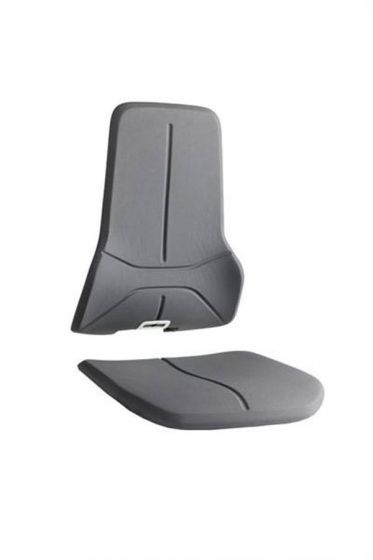 Black Superfabric cut resitant seat pads for Bimos neon lab chairs
