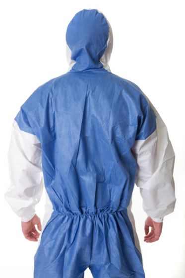 3M 4535 Coverall White & Blue Type 5/6 - L Pack of 20