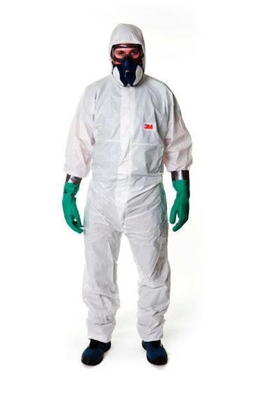3M 4545 Coverall White Type 5/6 Size L Pack of 20-camlab